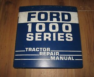 Ford 1300 1500 1700 & 1900 Tractor Service Repair Manual in Ford 3 Ring Binder