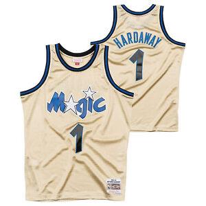 san francisco 4c275 10342 Details about Orlando Magic Penny Hardaway Hardwood Classics 1997 Gold  Swingman Jersey Shirt