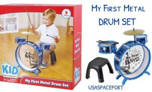 9piece My First Metal Drum Set Kid Connection Beginner Starter