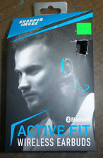Sharper Image Active Fit BLUE SBT528BL Wireless/Bluetooth Headphones/Earbuds New
