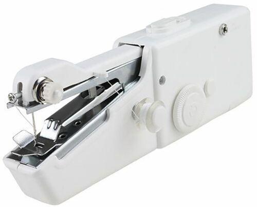 Portable Mini Sewing Machine Handheld Single Stitch Cordless DIY Home Travel Use