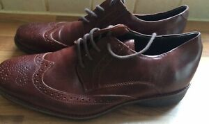 Mens-Anatomic-Gel-amp-Red-Tan-Leather-Lace-Up-Brogues-Shoes-UK-7-Eu-41