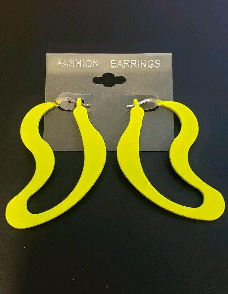 Yellow Glow In The Dark Fall Leaf Stud Resin Earrings