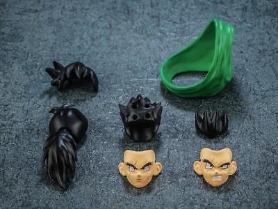 Dragonball Z 2 Hair  2 Face /& Clothes Set FOR SHF Tenshinhan Yamucha New