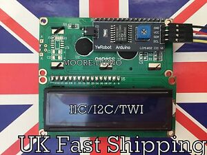 Serial LCD 1602 16x2 Module with IIC/I2C/TWI Adapter For Arduino