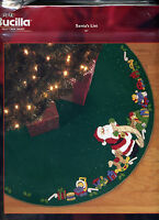 Bucilla SANTA'S LIST Felt Christmas Tree Skirt Kit DISCONTINUED OOP #84857