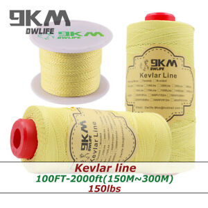 Braided-Kevlar-Line-150lbs-Kite-Fishing-High-Strength-Camping-Made-with-Kevlar