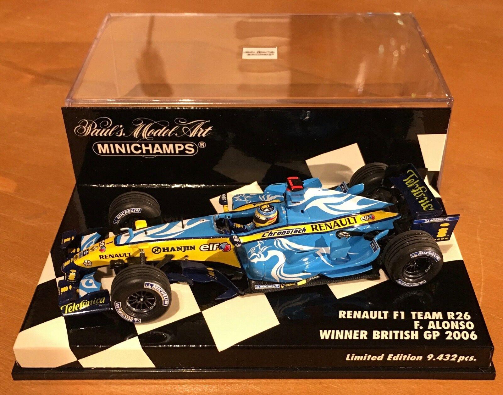 buena calidad Minichamps 1 43 Renault Renault Renault F1 Team R26  1 - Alonso Ganador GP británico  mejor calidad mejor precio