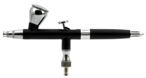 0.2mm BLK METAL DUAL ACTION AIRBRUSH AIR BRUSH W// AIRHOSE NAIL ART MAKEUP MODEL