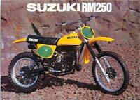 1978 Suzuki Rm250 Sales Ad/ Brochure