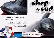 STICKERS CARBONE 5D ADHÉSIF AUTOCOLLANT PLAQUE 152 X 30 CM SKODA GOLF 3 4 5 6