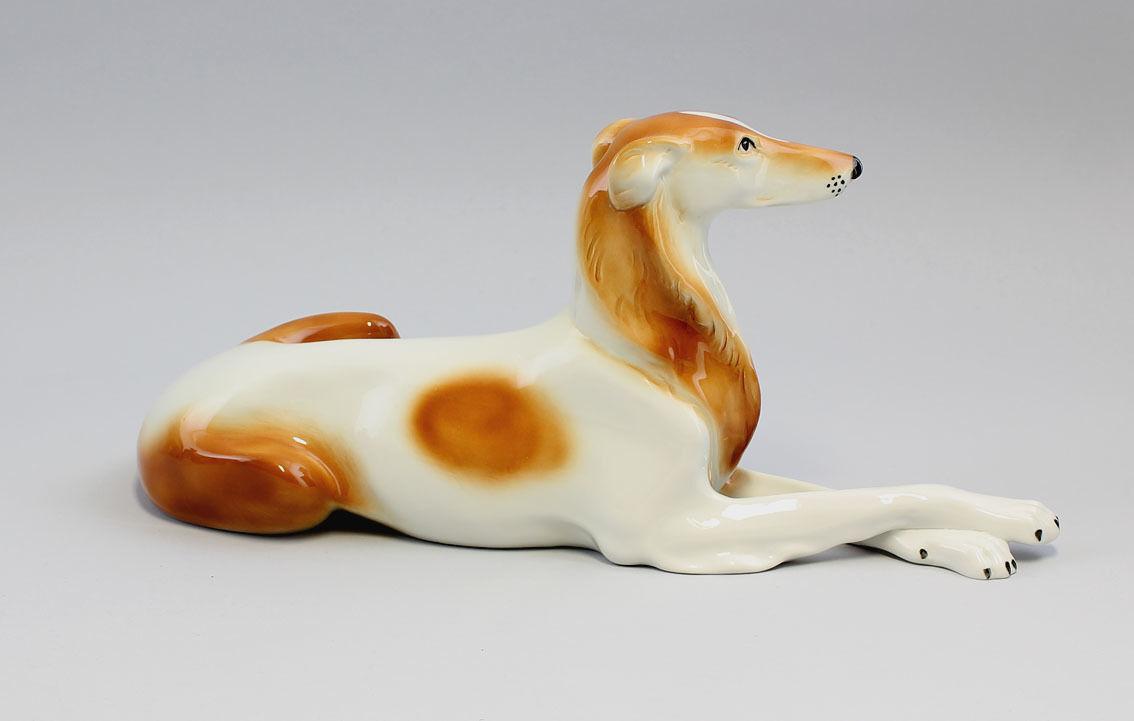 Porzellan-Figur Windhund Borsoi Wagner & Apel Hund L32cm L32cm L32cm 9942131 13ca6a