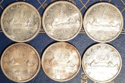Canada Silver Dollars circulated Pick one or more dates .800 FINE 1963-1967