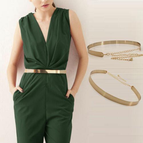 Adjustable Waistband Plate Chains Waist Belt Vogue Metal Belts Wide Band Chain