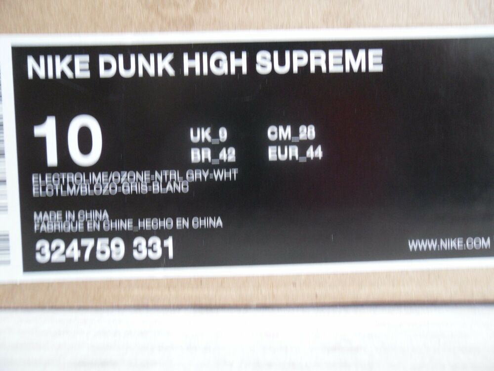 NIKE NIKE NIKE DUNK HIGH SUPREME ELECTROLIME-OZONE-GREY-Blanc Homme  Chaussures de sport pour hommes et femmes 0d5ced