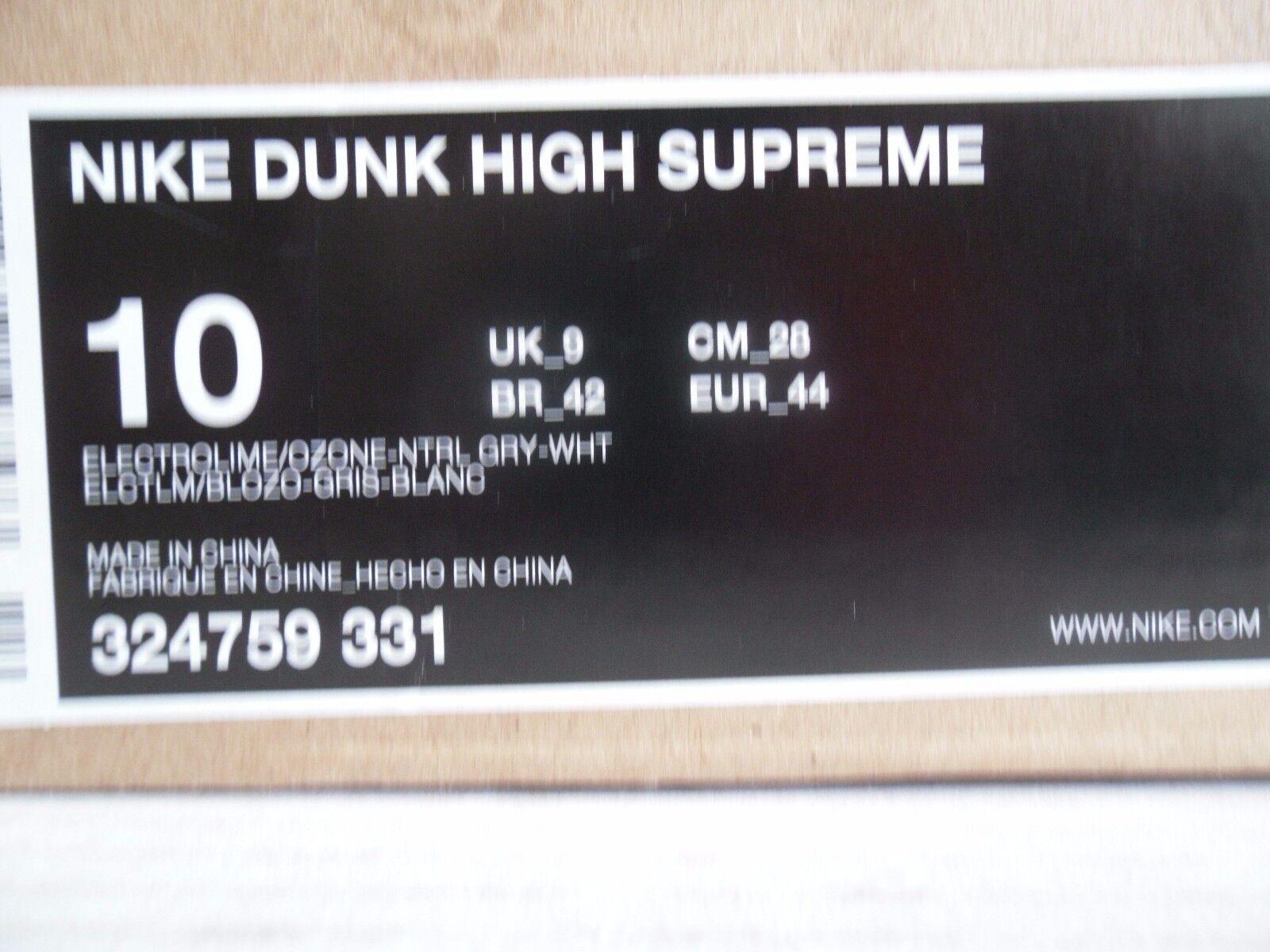 nike sz dunk hohe oberste electrolime-ozone-grey-white sz nike 10 [324759-331] ee56e0