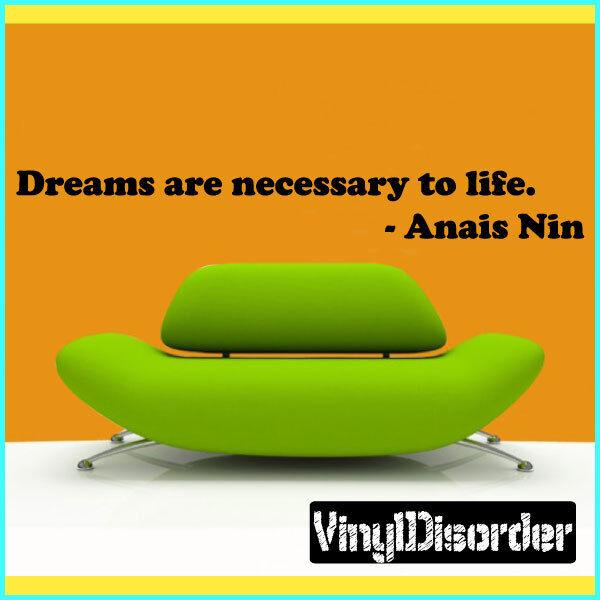 Sueños son necesarias para la vida. - cotización De Parojo Mural Calcomanía Anais-businessquotes 05