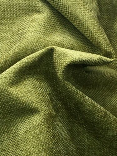 Gorgeous green chenille upholstery fabric 140 cm D1004