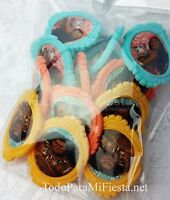 12 Moana Cupcake Rings Voyagers Cupcake Rings Decoracion Moana