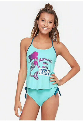 NWT Justice Girls Tankini Swim Suit Wear Swimwear Sz 7 New 2 Piece Bathing Suit