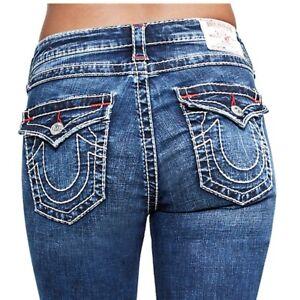 4dcbb2e557b True Religion Women s Big T Curvy Distressed Skinny Stretch Jeans w ...