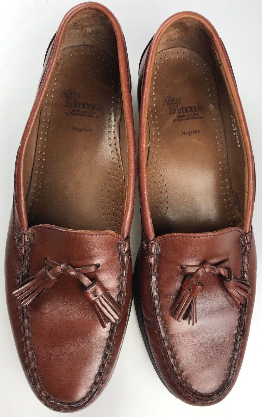 Allen Schuhes Edmonds Naples Chili Braun Tassel Leder Loafer Schuhes Allen Sz 11 D EUC 6bf3a6