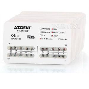 30-Packs-Dental-Orthodontics-Metal-Brackets-Mini-Roth-022-Hooks-3-4-5