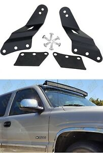 Details About 1set Led Light Bar Bracket For 99 06 Gmc Sierra Chevy Silverado 52 Curved G52c3