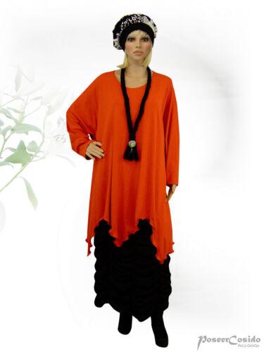 POCO superposé long-SHIRT TUNIQUE 44 46 48 50 52 54 56 58 L-XL-XXL-XXXL Orange