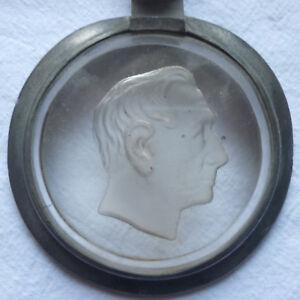 ZINNDECKEL-mit-Glaseinsatz-Goethe-vor-1918-fuer-Bierkrugdurchmesser-76-mm