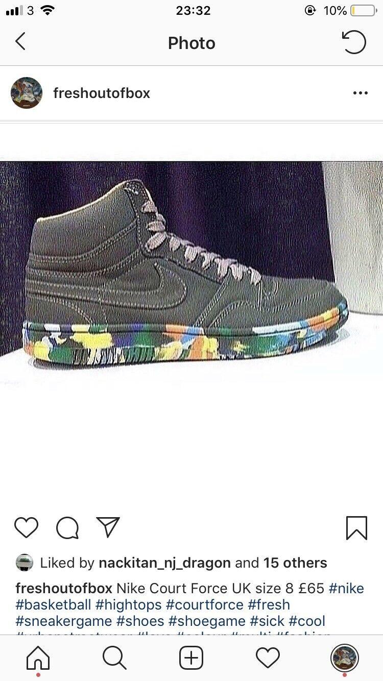 Nike Court fuerza UK Talla 8 Nuevo