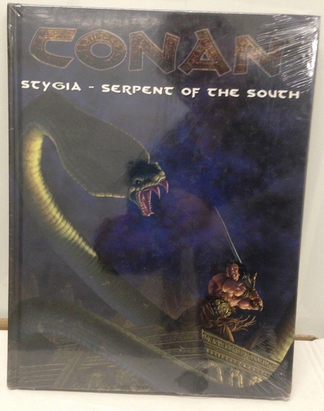 Conan-Stygia-Serpente del Sud fonte di  riferimento RPG copertina rigida sigillato  servizio di prima classe