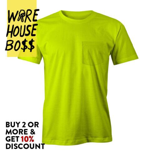 Lot de 3 prousa homme poche manches courtes T shirt CASUAL Poche Shirts Plain Tee