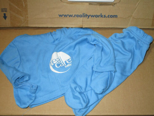 ONE USED RealCare RealityWorks Doll MALE Blue Oufit BTIO Baby think it over