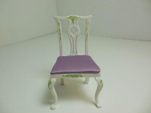 Dollhouse Miniatures Furniture 1//12 30056wt Grape Motif Chair