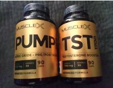 TST 1700 Testosterone Booster & PUMP 2400 NO Nitric Oxide Amino XL Muscle