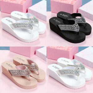 Summer-Women-Ladies-Wedge-Platform-Thong-Flip-Flops-Sandals-Beach-Slippers-Shoes