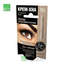Fito Natural Dye Eyebrows & Eyelashes Henna Cream Color Black 2x2ml (Pack of 2)