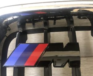 BMW M Sport Front Grill Badge In Gloss Black . Fast Dispatch. Free Uk Delivery