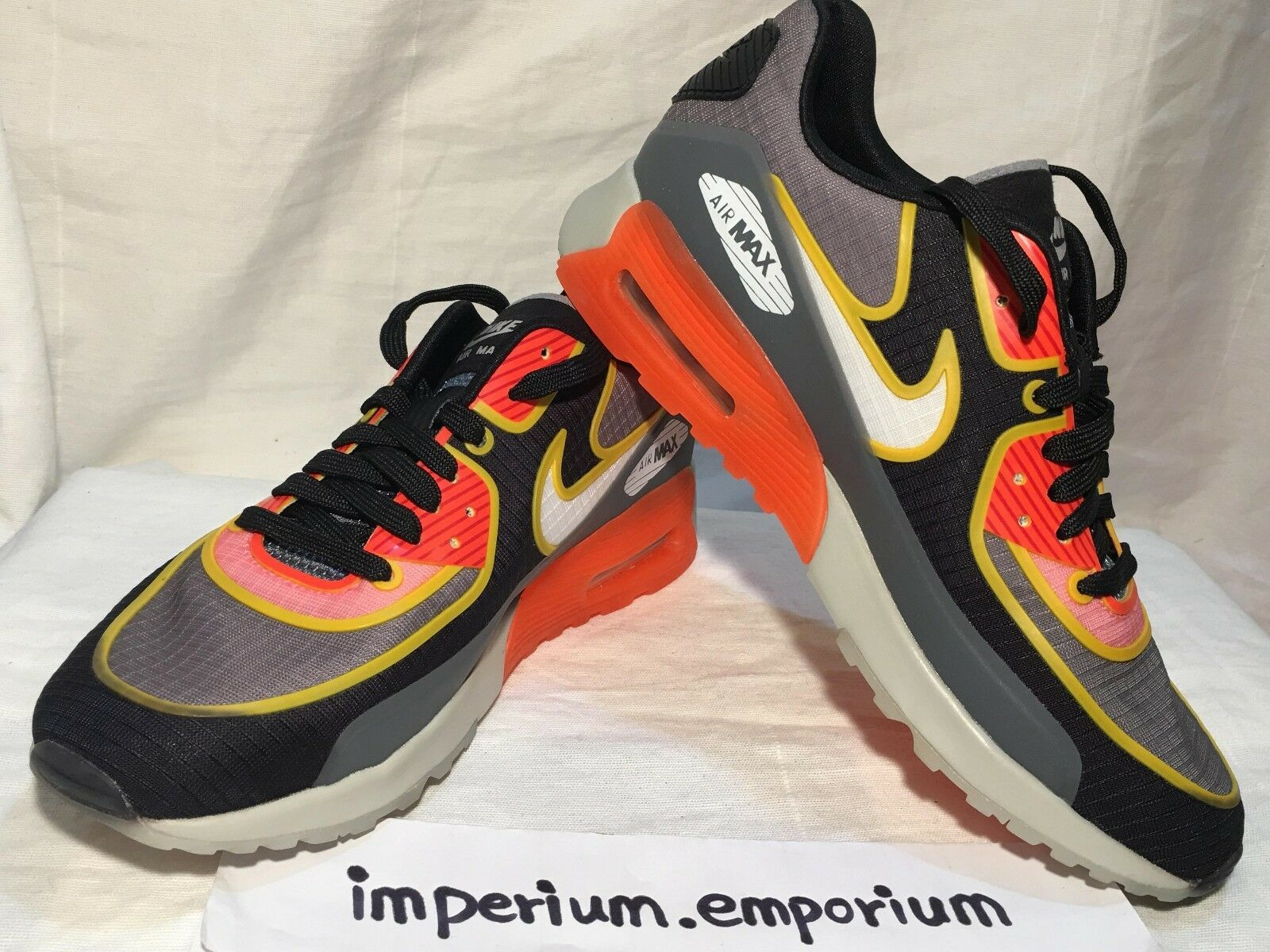 Wo Hommes Nike Air Max 90 Ultra 2.0 SI Trainers jaune Chaussures Orange/ Gris / jaune Trainers aa2141