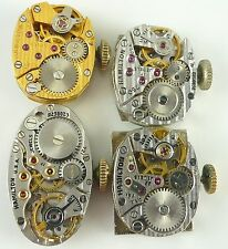 Lot of 4 Hamilton Lady's Wristwatch Movements -  721, 750, 780, 761