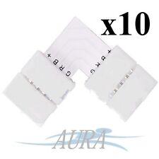 10 X LED RGB Strip Light 5050 Corner Connector No Solder L Shape 90 Degree A003