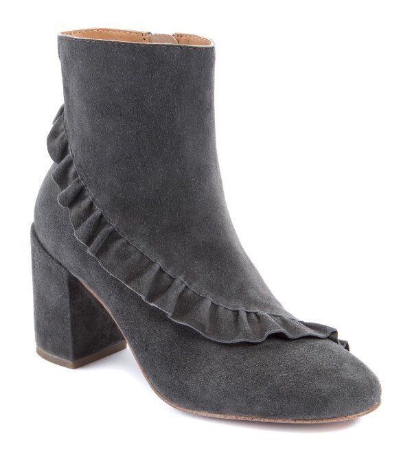 Nuevo Latigo kahlia Piedra gris Botín De De De Volantes De Cuero De Gamuza botas Talla 7.5  al precio mas bajo