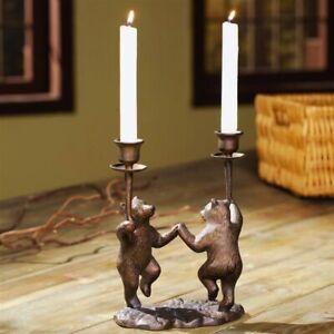 Dancing Bears Candle Holder Centerpiece
