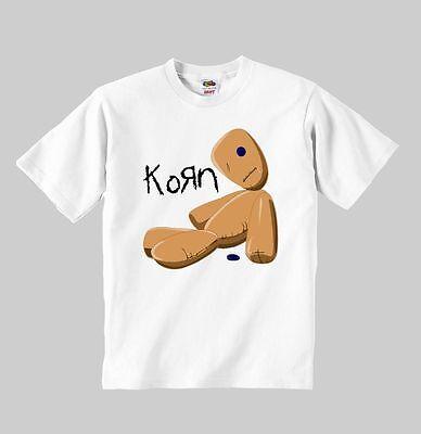 KORN logo t-shirt korn t shirt children clothing toddler kid size:1-8 years