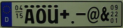 audi bmw mini cooper jaguar mercedes lotus veron German license plate tag front