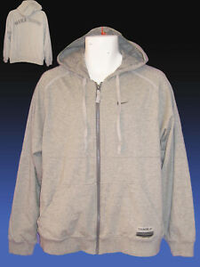 Éclair Capuche Nike Coton Veste Gris Vintage Nouveau M Entraînement Fermeture À Fa4Ef