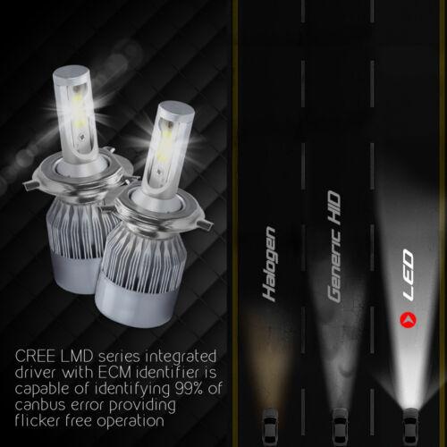 XENTEC LED HID Headlight kit H4 9003 White for 1987-2002 Land Rover Range Rover