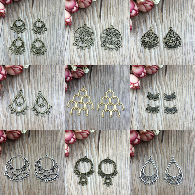 Earring Connectors FOR Jewelry Making Lots Bronze Plated/Tibetan Silver/Golden
