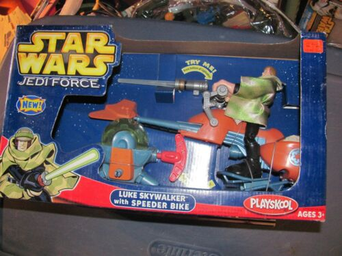Star Wars Jedi Force 6 inch Luke with Speeder Bike NEW IN BOX